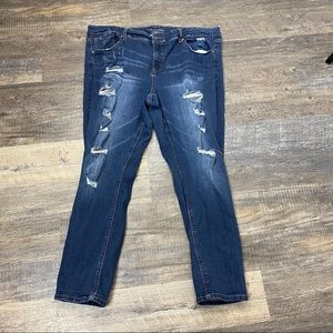 Maurices High Waisted Distressed Dark Wash Jeans